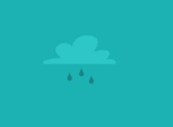 Graphical icon of cloud with water